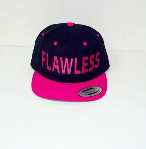 7ca430ba1 FLAWLESS Custom Embroidery Hat Flat Bill Snapback Two-tone | Style ...