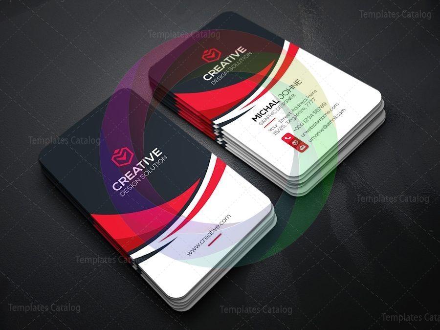 Vertical Technology Business Card Template Graphic Templates Vertical Business Card Template Vertical Business Cards Business Card Template