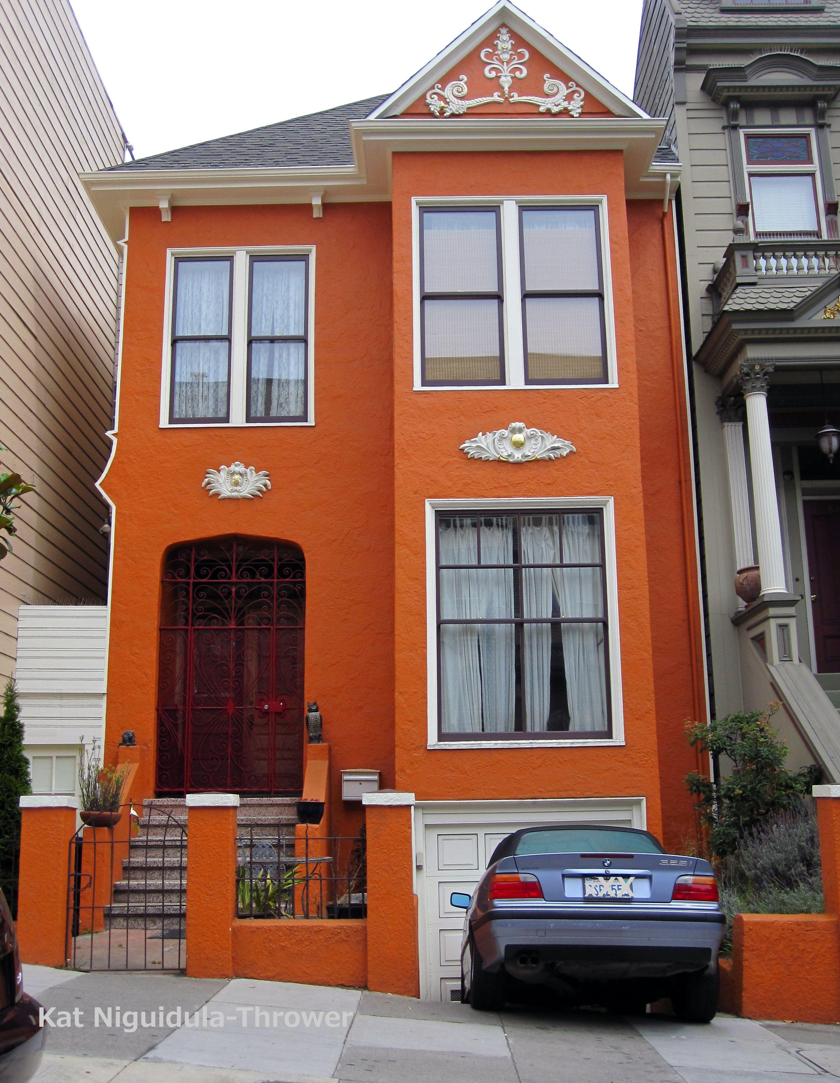Orange House In San Francisco Ca Orange House Exterior House