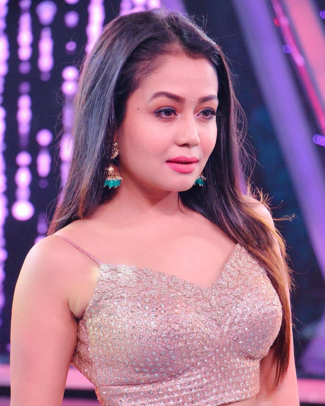 Image May Contain 1 Person Closeup Desi Beauty Neha Kakkar Dresses Neha Kakkar