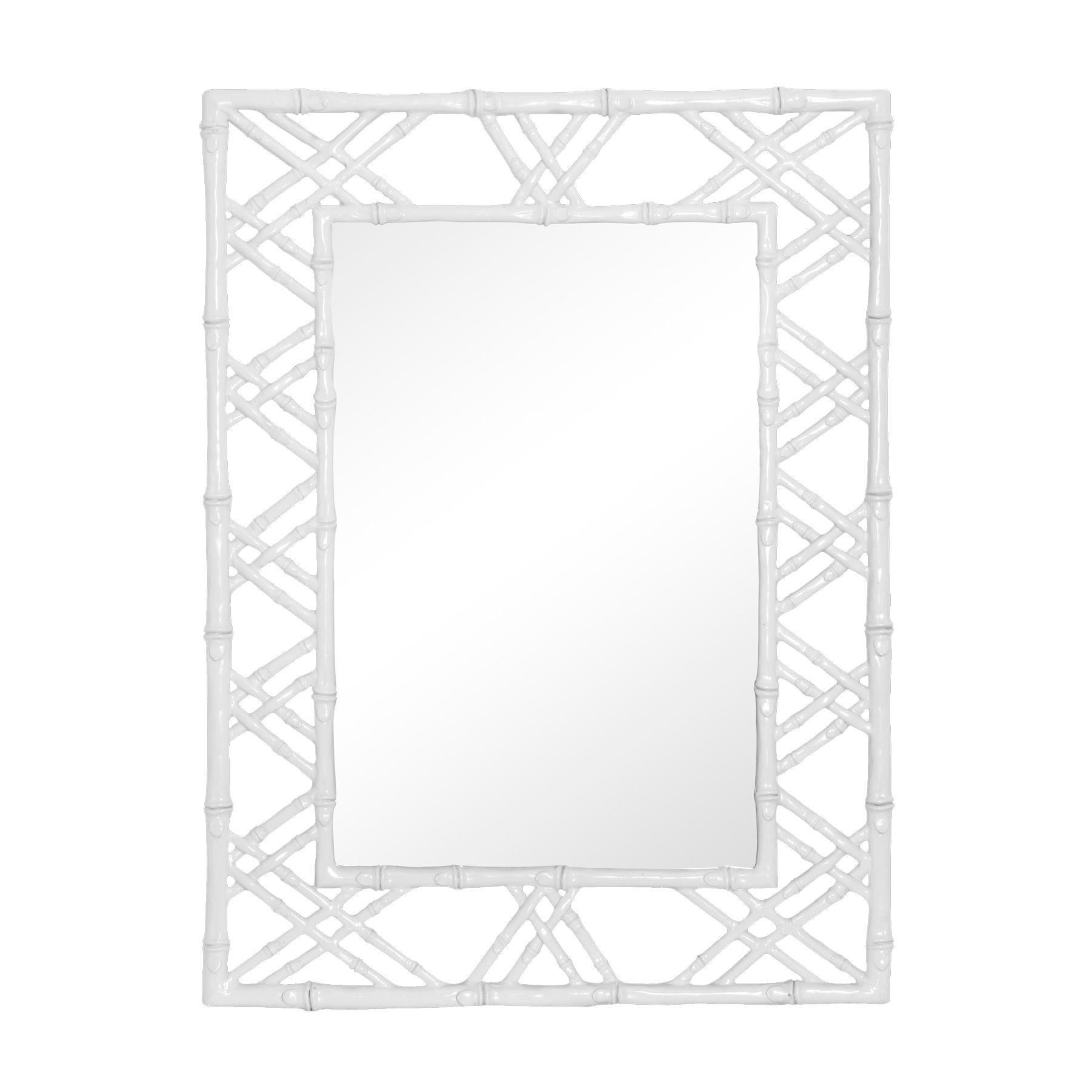 Claire Wall Mirror In White By Bungalow 5 As Seen In