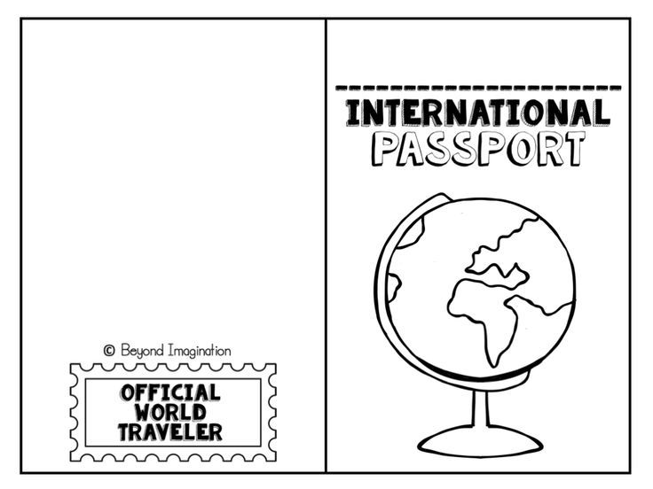 FREE international passport for kids to use and play with - free event ticket template printable