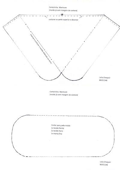 Bolsa Manicure Passo A Passo : Molde porta manicure costura criativa