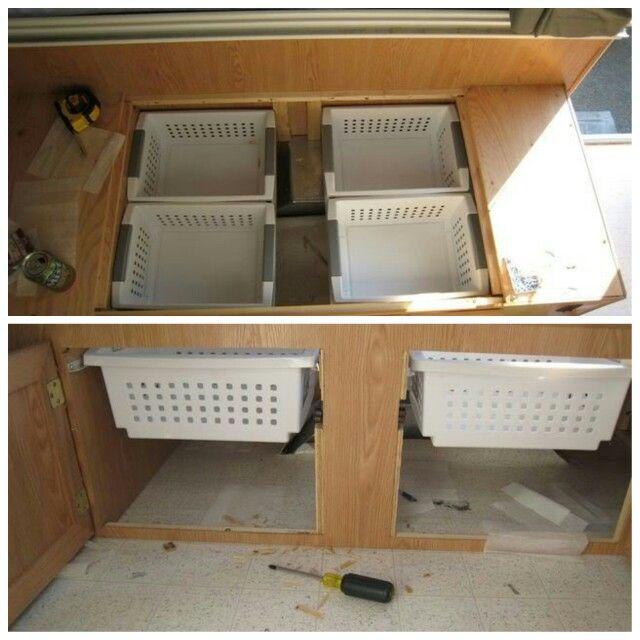 Groovy Utilizing Dinette Bench Storage Installed 4 Bins Inzonedesignstudio Interior Chair Design Inzonedesignstudiocom