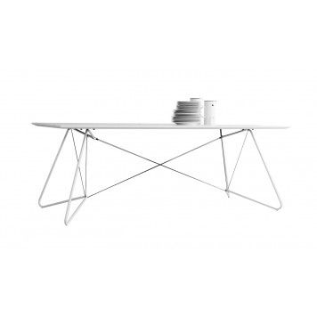 On a string dining work table OK Design white