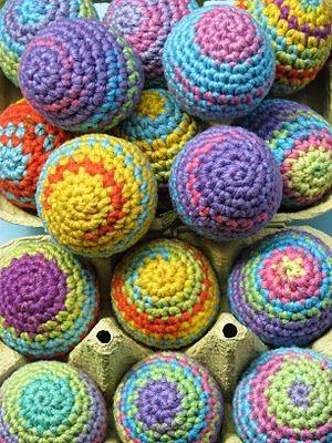 Lady Crochet: Rainbow Easter Eggs / Huevos de Pascua | Pascua ...
