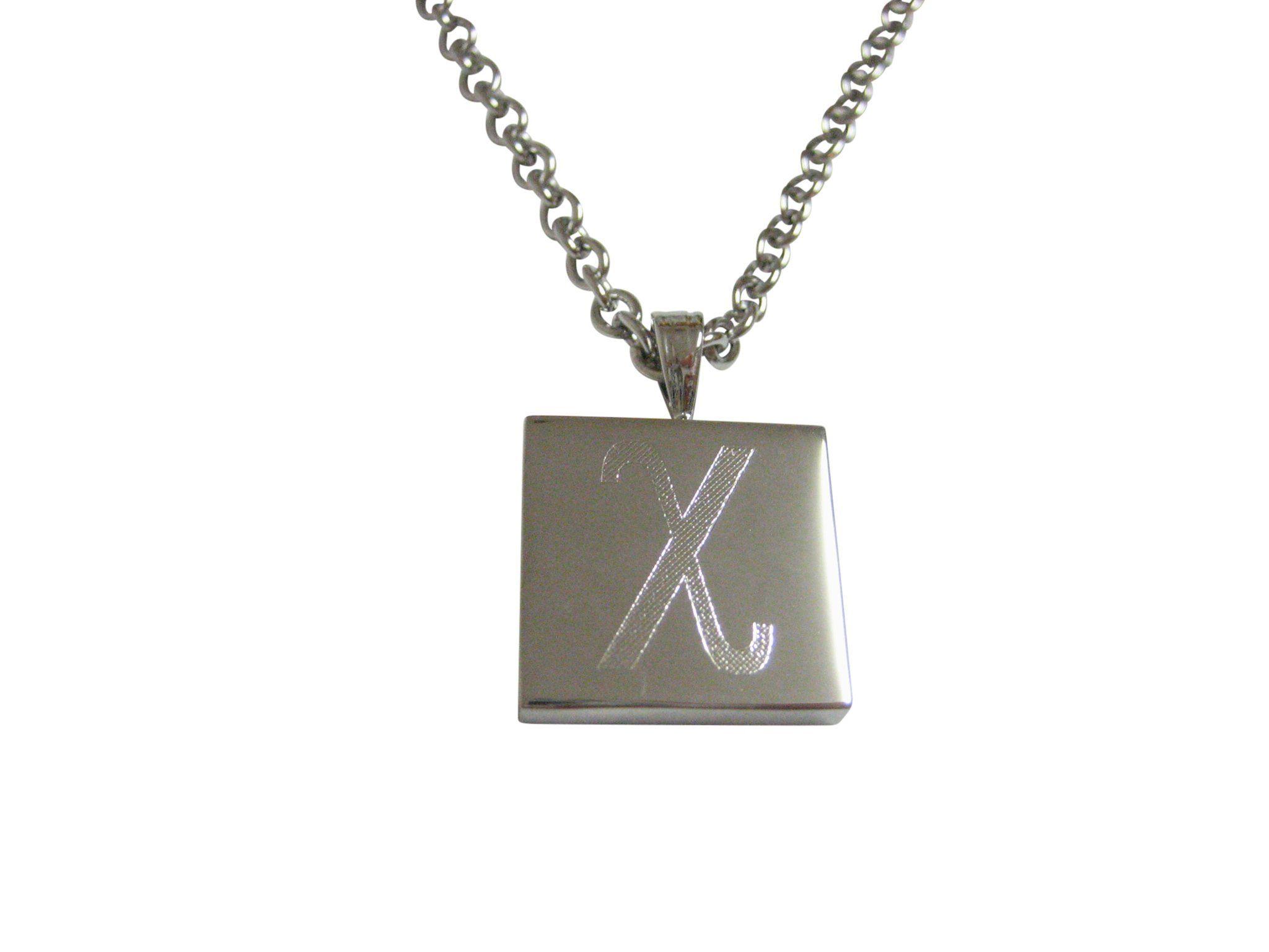 Gold Toned Etched Greek Letter Alpha Collar Stays