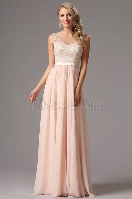 5fba147f4 Elegant A Line Sleeveless Pink Chiffon Evening Dress (00162814) en ...