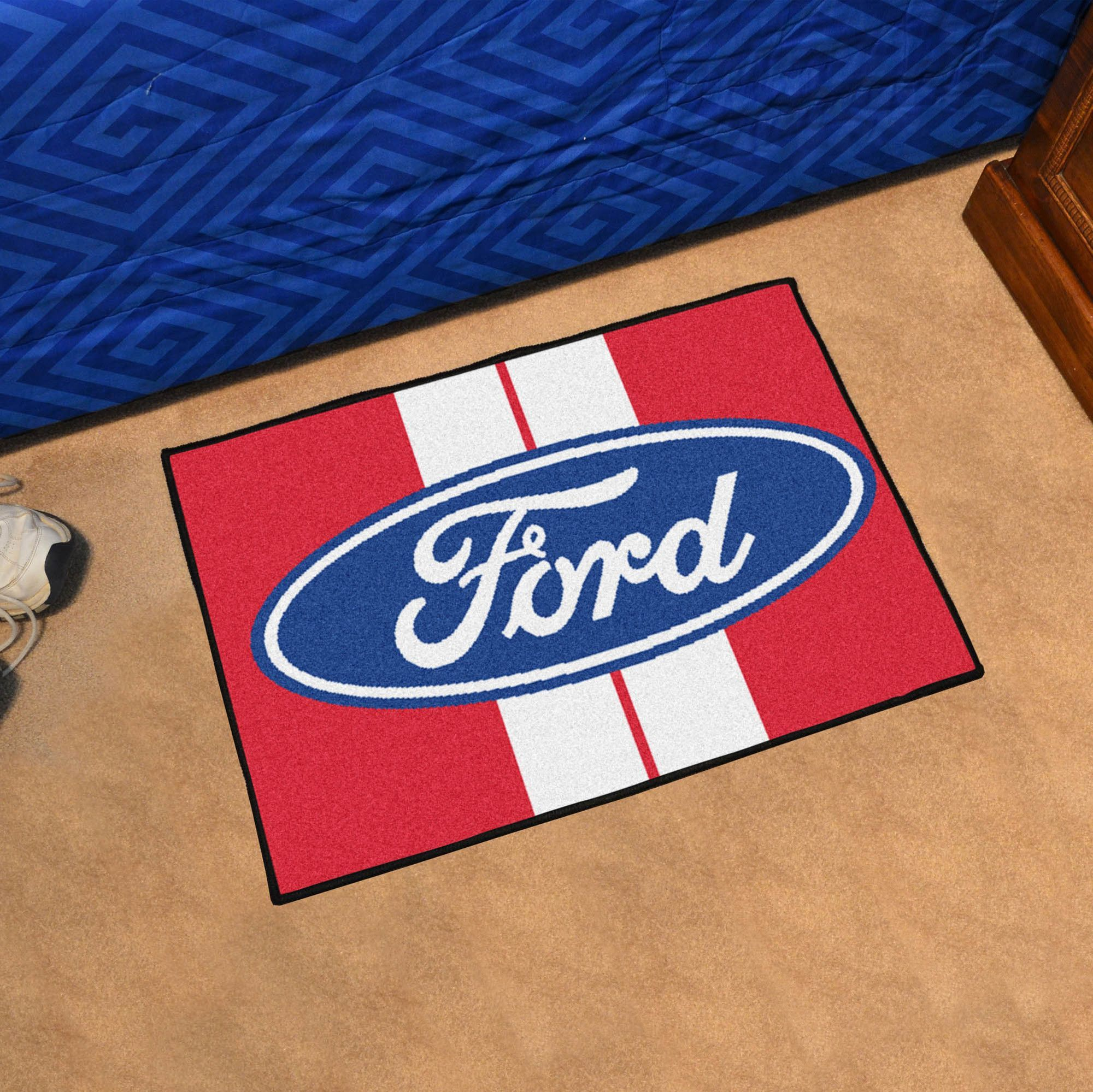 Ford - Ford Oval with Stripes Tailgater Mat