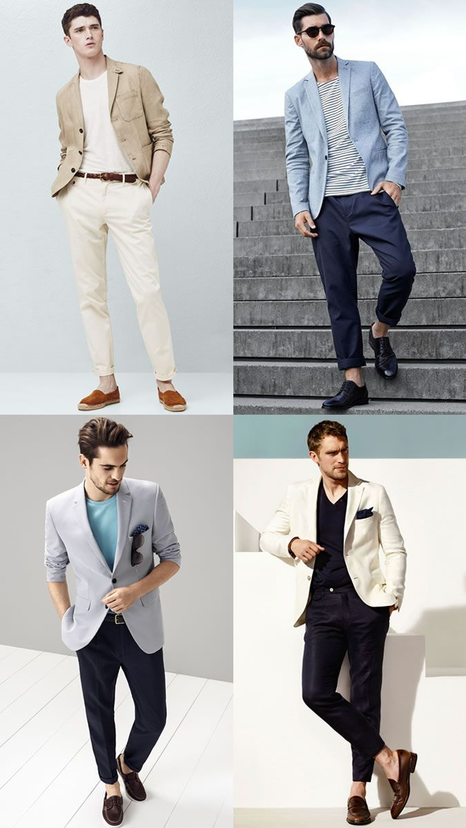 9999f62d6c1e Men s Unstructured Unlined Blazers Jackets Summer Layering Outfit  Inspiration Lookbook