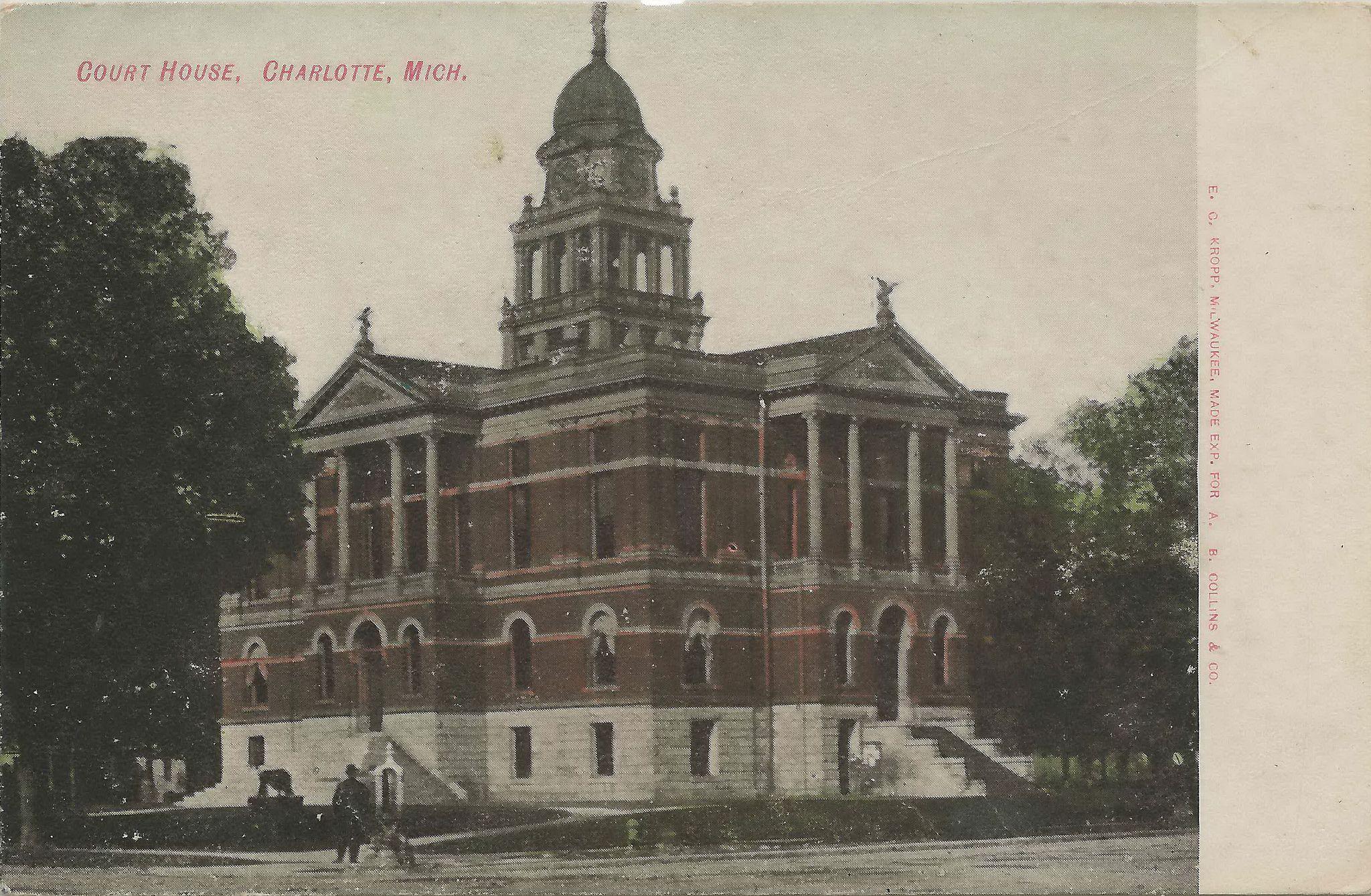 Michigan eaton county potterville - Sw Charlotte Mi Eaton County Courthouse Built On 1885 Rebu
