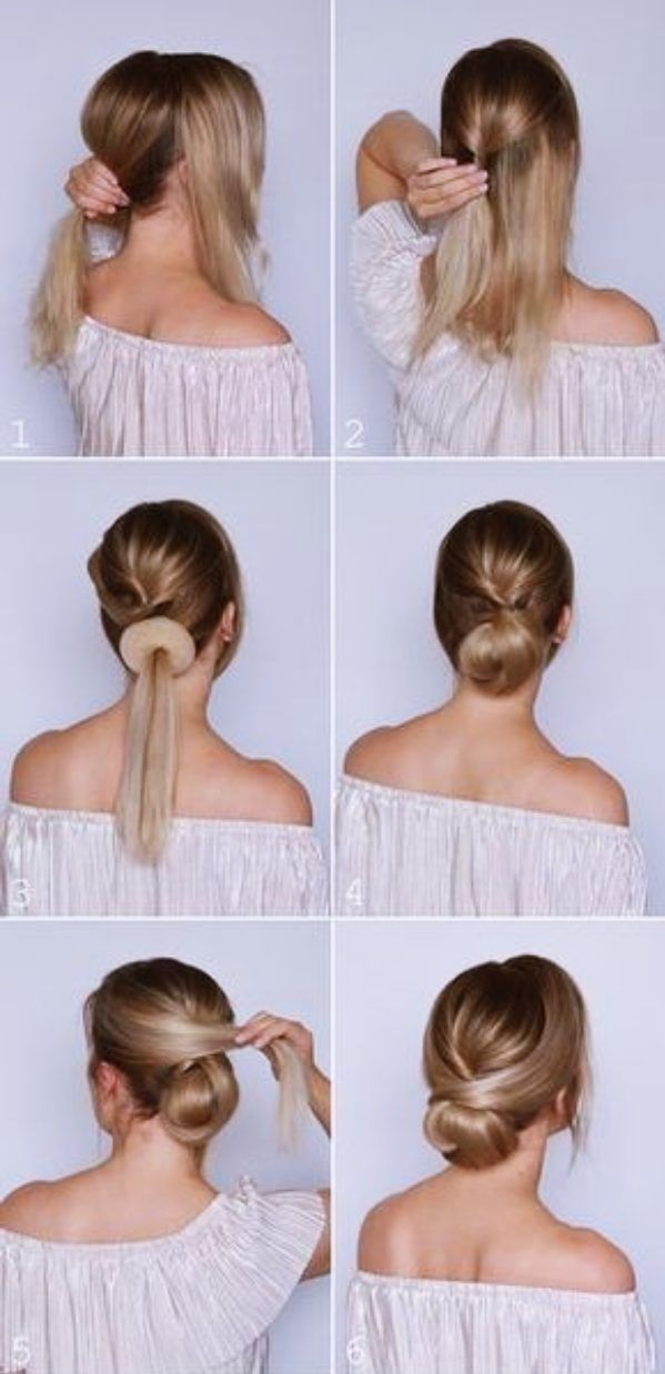 Quick And Easy Updo Tutorials For Medium Hair Medium Hair Styles Hair Styles Long Hair Styles