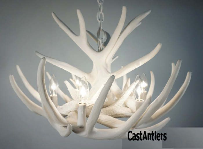 Antler chandeliers pure white whitetail 9 cast cascade antler chandeliers pure white whitetail 9 cast cascade rustic lighting mozeypictures Images