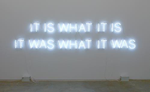 It is what it is......