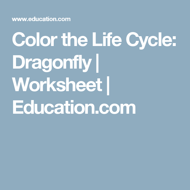 Color the Life Cycle: Dragonfly | Pinterest | Worksheets, Cycling ...