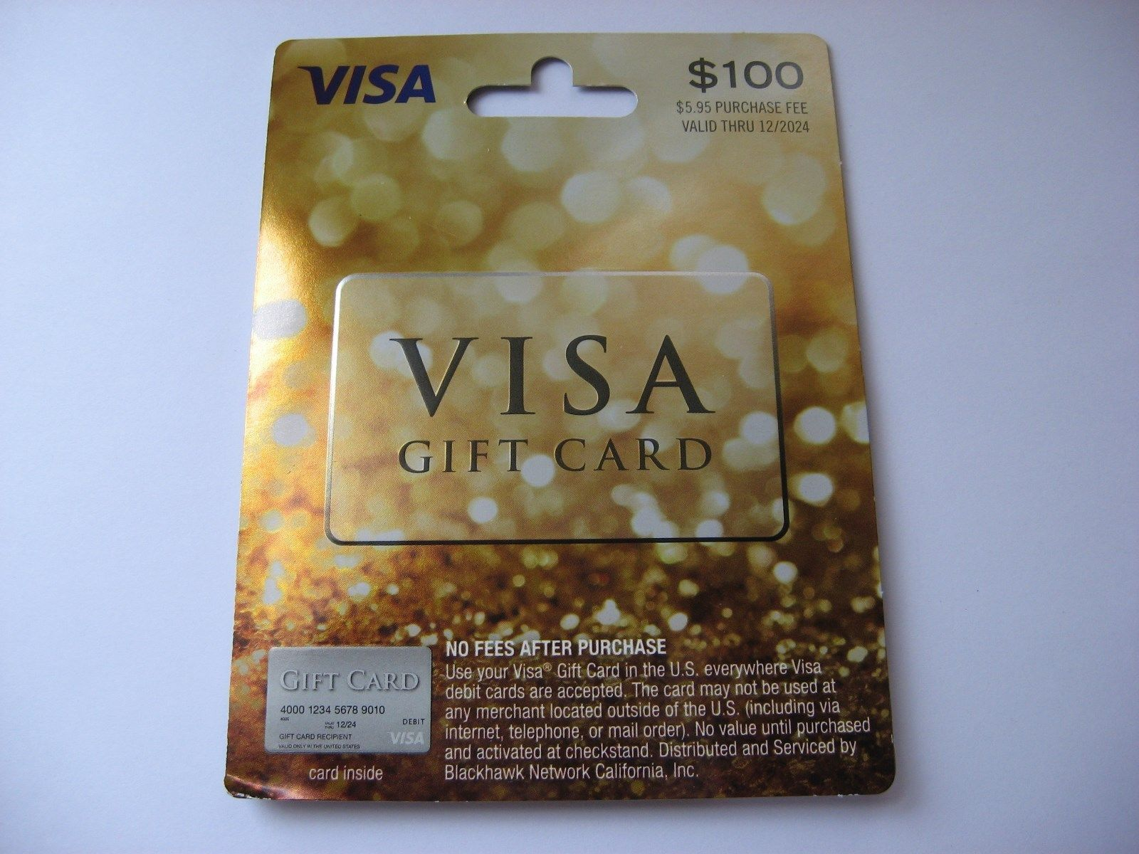 Coupons giftcards visa card 100 brand new never used