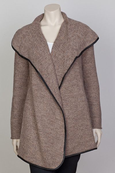 NOA NOA Winter Blend Cardigan in Light Walnut 1-4239-2