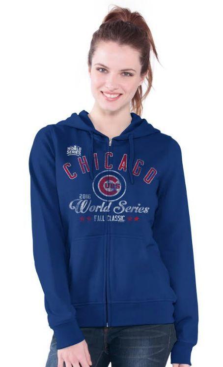 super popular 61c95 5f70d Chicago Cubs Women's 2016 World Series Full Zip Hoodie By G3 ...