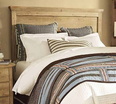 Kate Carl S Room Mason Reclaimed Wood Headboard Wax Pine