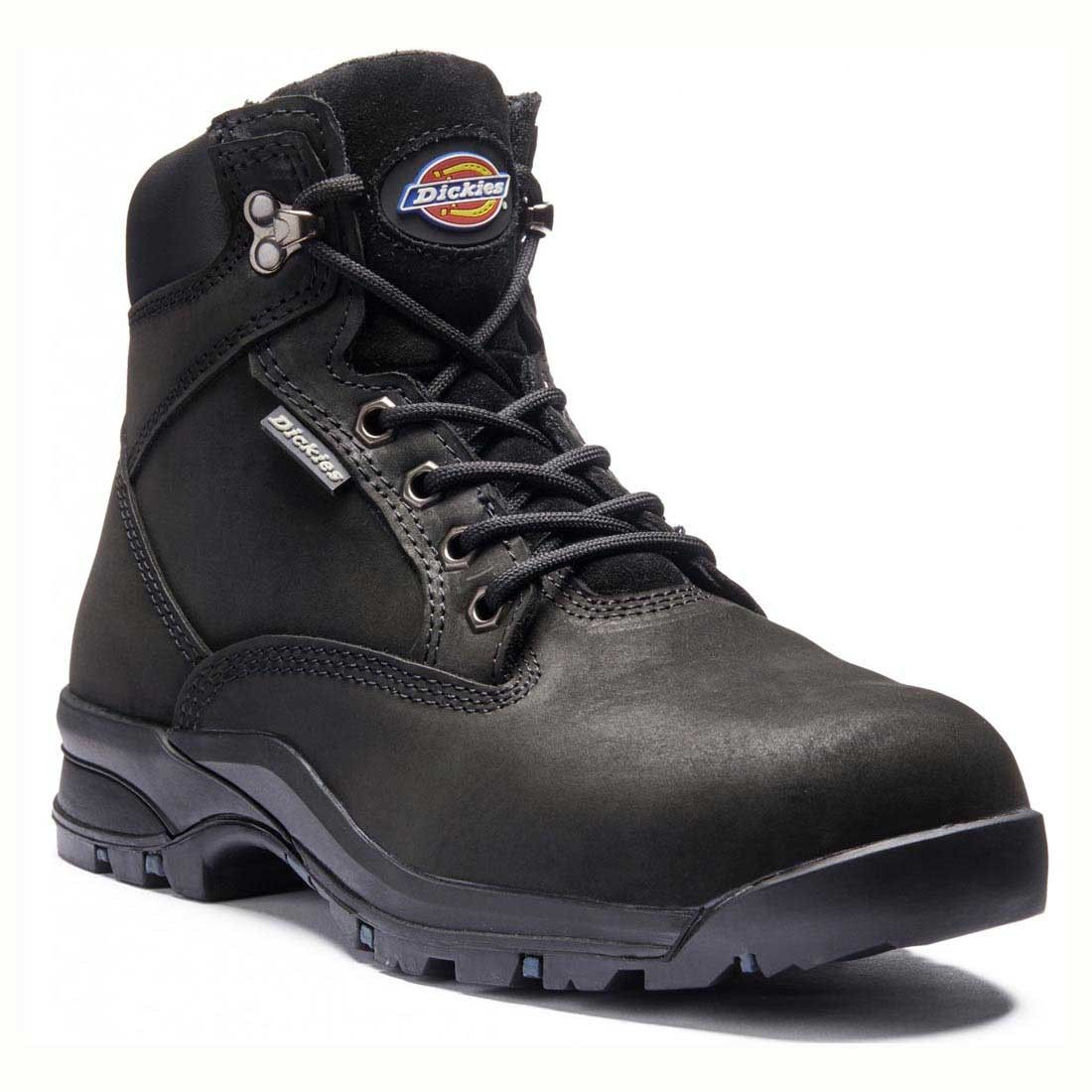 dca5e9c571fb Dickies Ladies Fit Corbett Black Leather Water Resistant Safety Boots