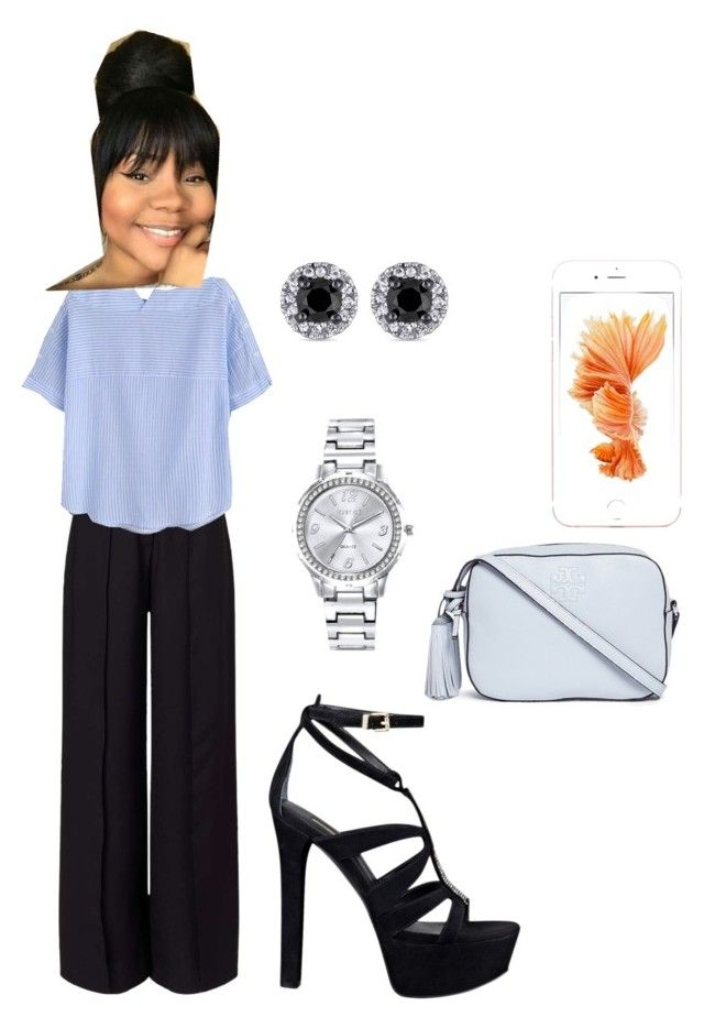 """Conservative Look for Interview"" by sweeetestgirl on Polyvore featuring Miss Selfridge, Mestige, Tory Burch and GUESS"