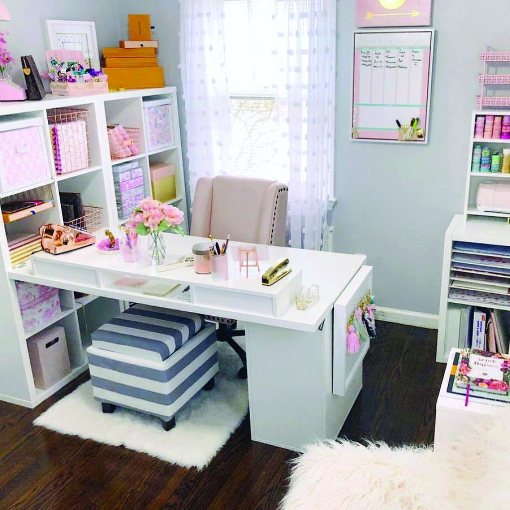 20+ Easy And Cheap DIY Home Office Organization Ideas
