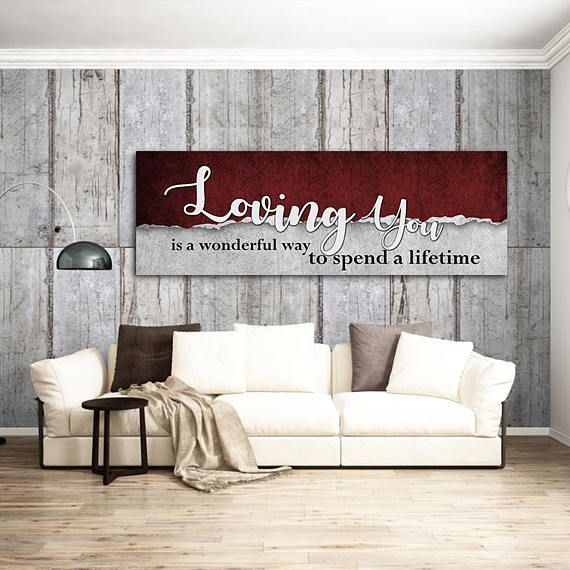 What To Spend On A Wedding Gift: Loving You Is A Wonderful Way To Spend A Lifetime Canvas