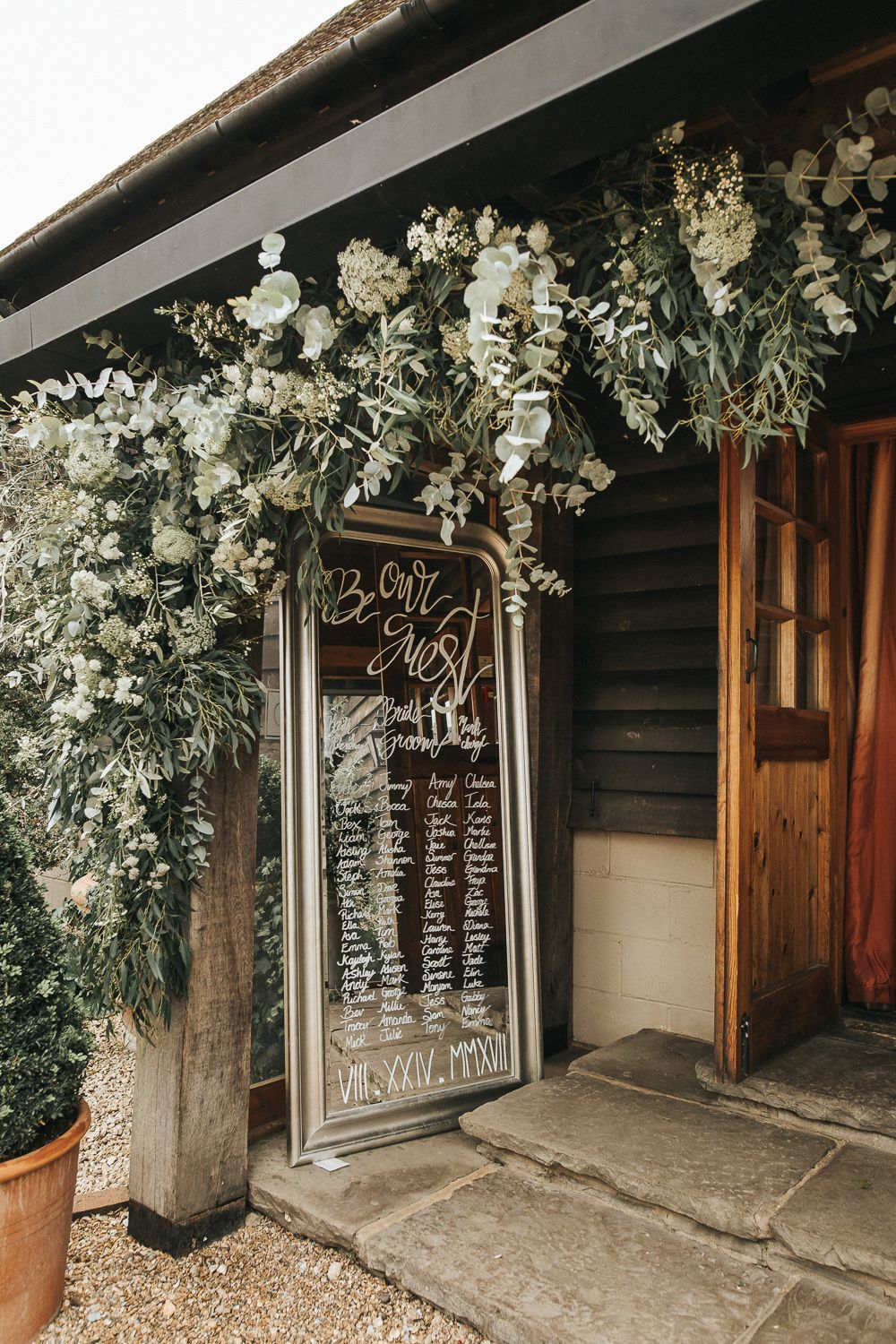 Wedding decorations gate  Grace Loves Lace Gown for a Rustic Wedding at Gate Street Barn