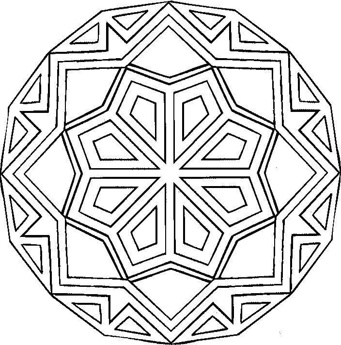 Crystal Mandala Coloring Pages Other crafts Geometric