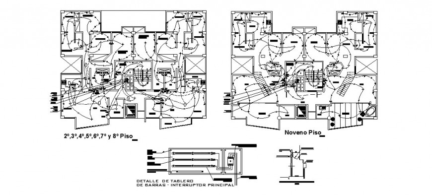 Typical electrical layout of 2nd floor to 8th floor of a