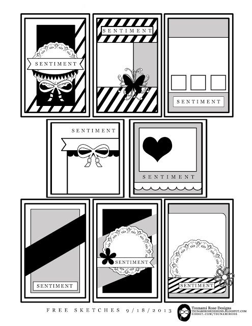 Tsunami Rose Designs New Free Printable Sketches Enjoy Card Sketches Templates Card Sketches Cards