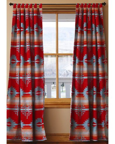 Carstens Red Branch Drapes Sheplers Southwestern Curtains Western Home Decor Western Curtains