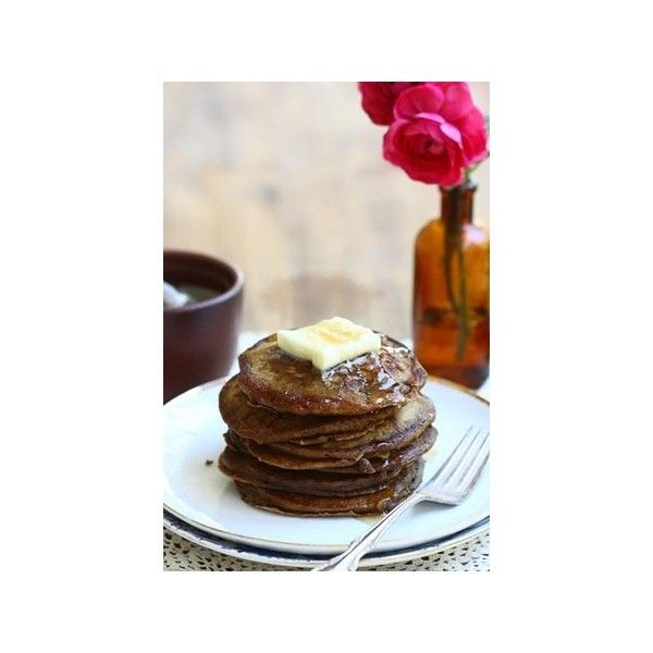 Coffee Pancakes ❤ liked on Polyvore