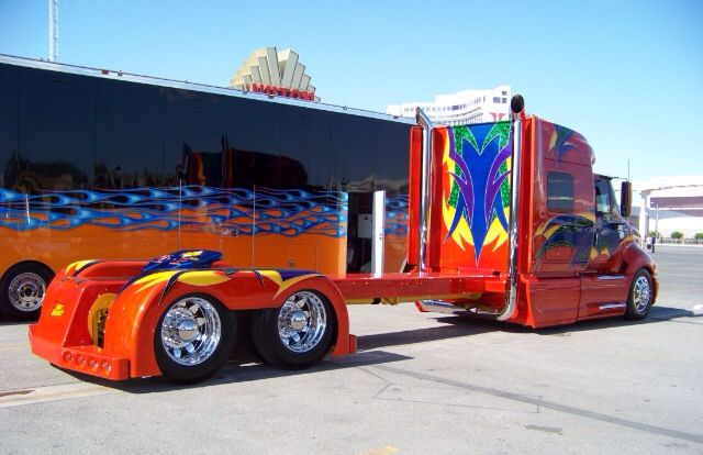 Custom Semi Truck With Images Trucks Custom Trucks Big Trucks
