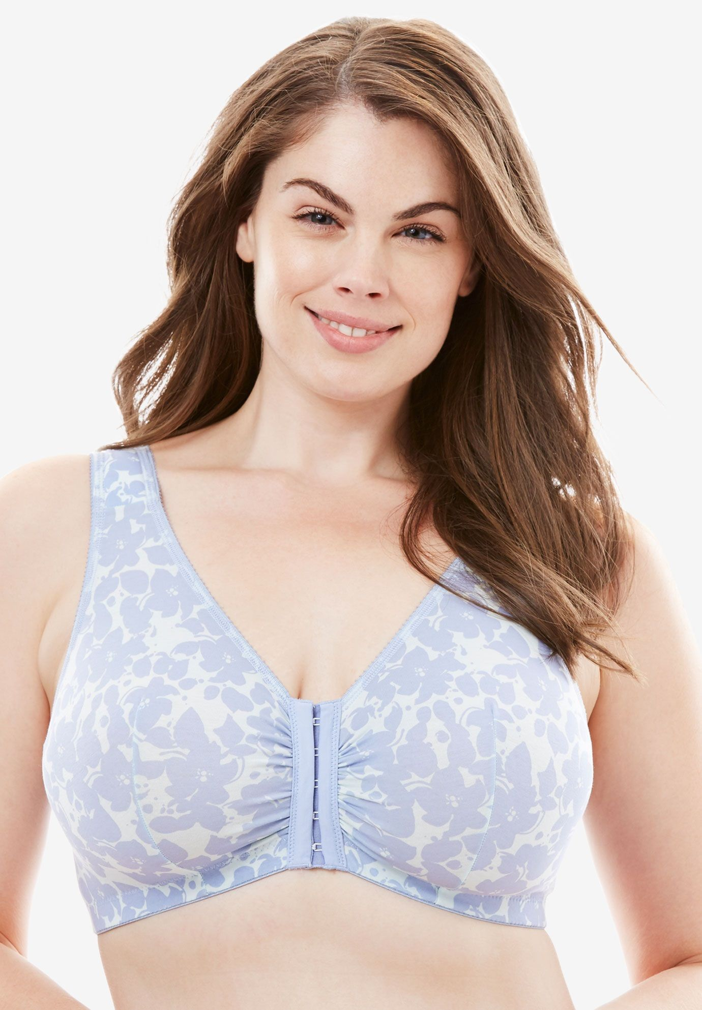 e6ce7310e0b5b Cotton Knit Leisure Bra by Leading Lady - Women s Plus Size Clothing ...