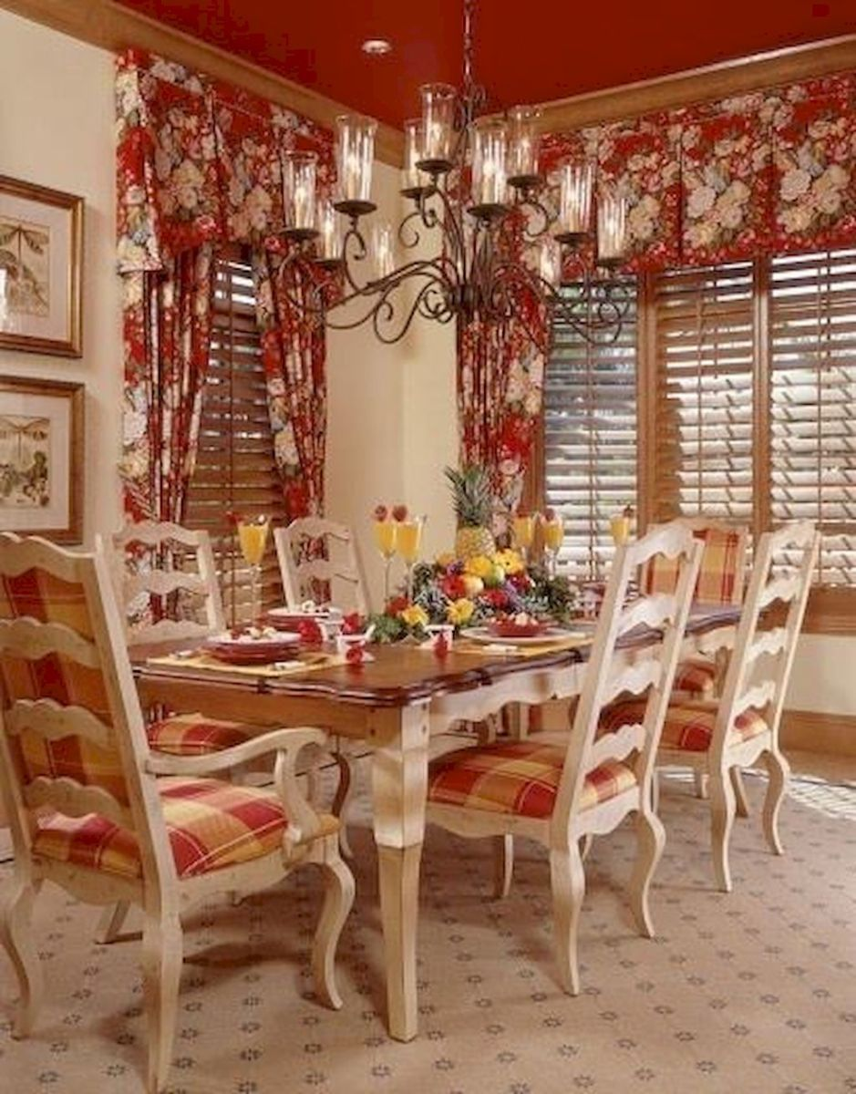 Fancy French Country Dining Room Decor Ideas 51
