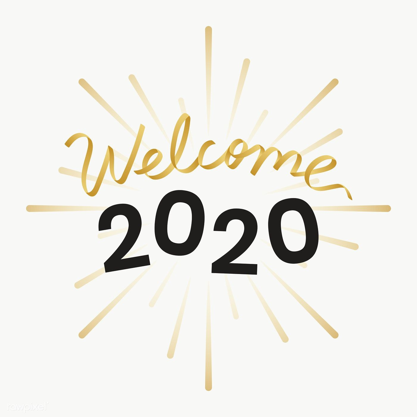 Golden 2020 transparent png free image by