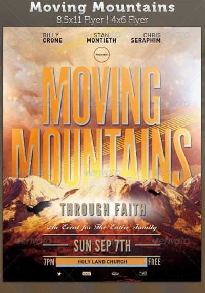 graphicriver moving mountains church flyer template full free