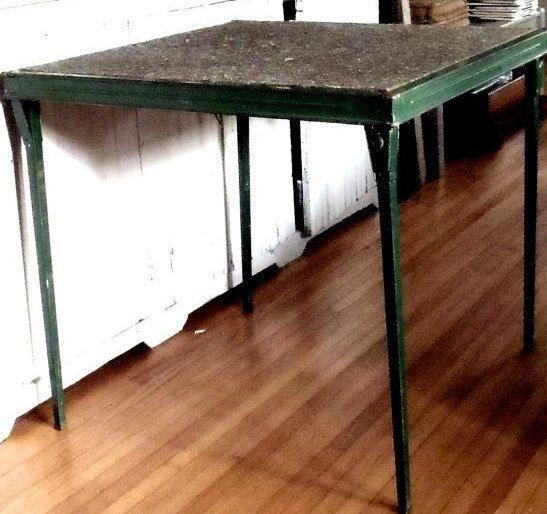 Vintage Modern Solid Metal Folding Table By Vagabondsandcaravans, $125.00