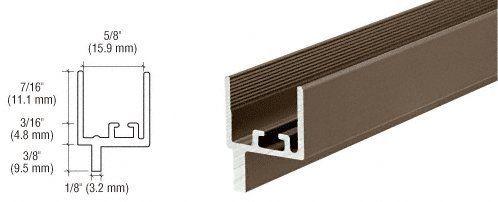 1 1 2 X 1 16 Aluminum Flat Bar Bronze Anodized Finish With Tape 95 Bronze Anodized Aluminum