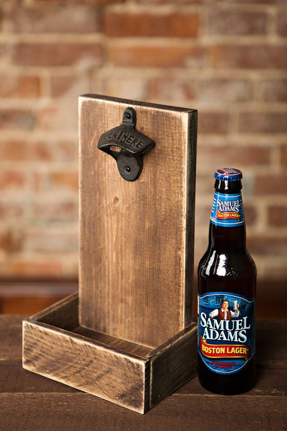Beer Bottle Opener and Cap Catcher - Brown #palettendeko