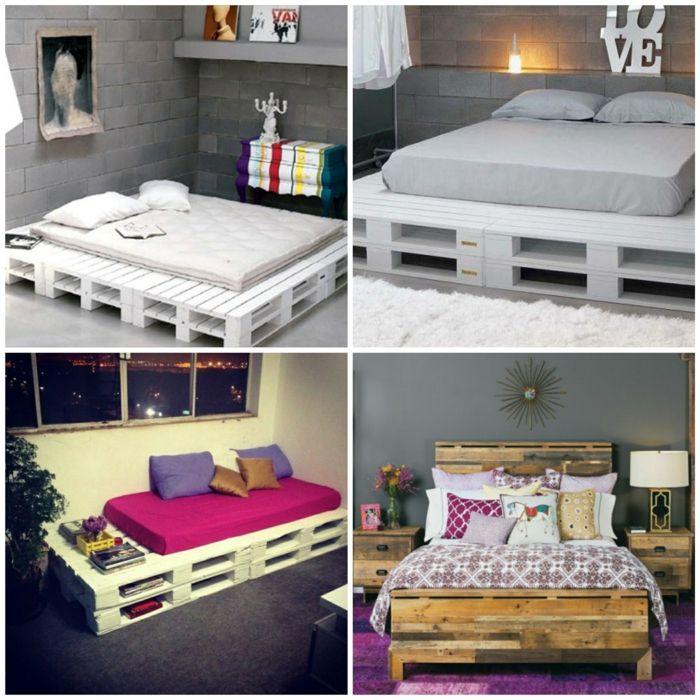 Möbel aus europaletten bett  Bett aus paletten sofa aus paletten paletten bett möbel aus ...