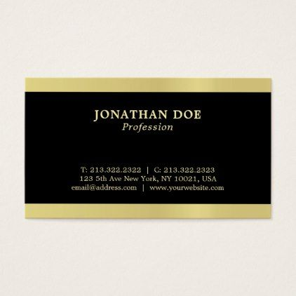 Professional Modern Creative Black And Gold Luxury Business Card Zazzle Com Luxury Business Cards Business Cards Elegant Business Card Minimalist