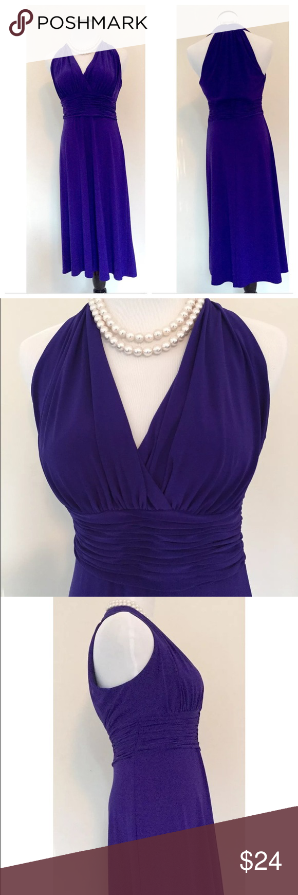 EVAN PICONE Purple Dress Measurements taken with garment laying ...