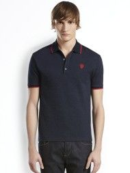 Gucci Cotton Cashmere Jersey Polo in Blue for Men (NAVY)