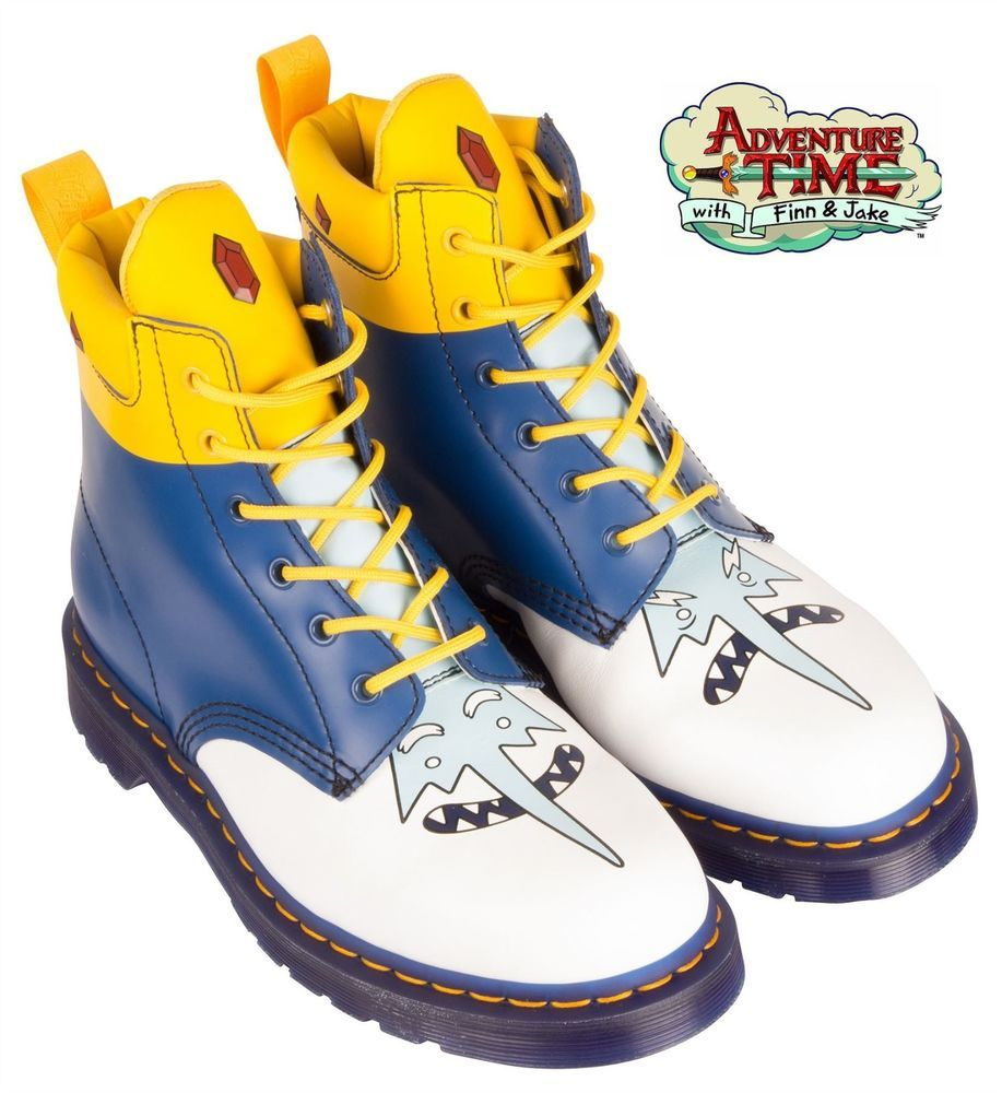 Dr. Doc Martens Adventure Time 939 ICE KING 6-Eye Men Leather Boots sz 12  Rare