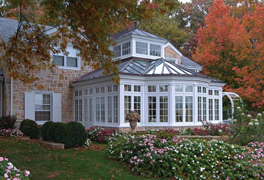 a colonial stone house with a traditional conservatory sunrooms my rh pinterest com