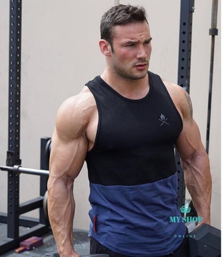 75fb28e073e51 Gyms tank tops Bodybuilding Clothing Fitness Men Cotton golds gyms Str –  myshoponline.com