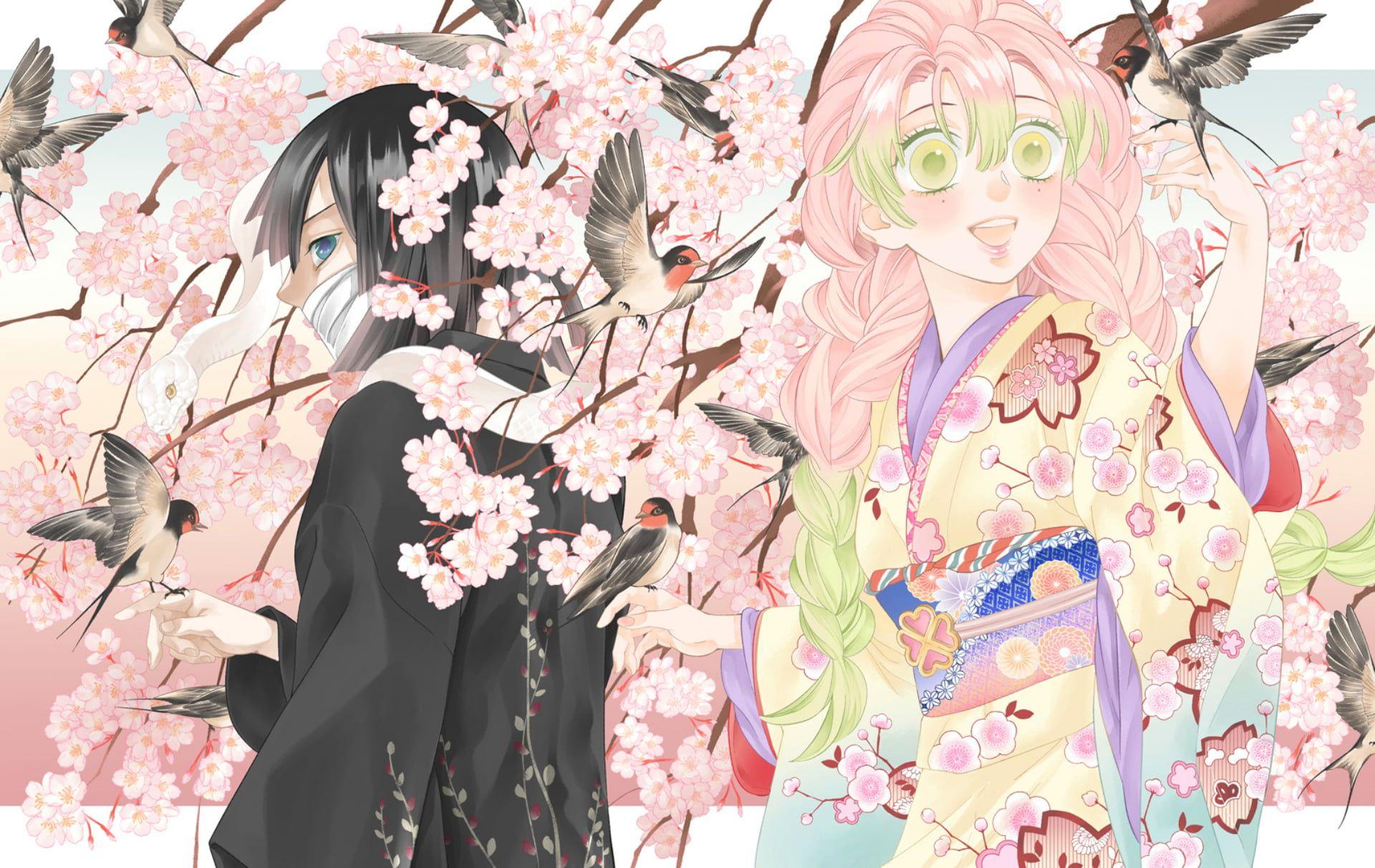 Anime Demon Slayer Kimetsu No Yaiba Mitsuri Kanroji Obanai Iguro 1080p Wallpaper Hdwallpaper Desktop Anime Demon Anime Aesthetic Anime Fanart(demon slayer) mitsuri fanart (self.anime). anime demon slayer kimetsu no yaiba