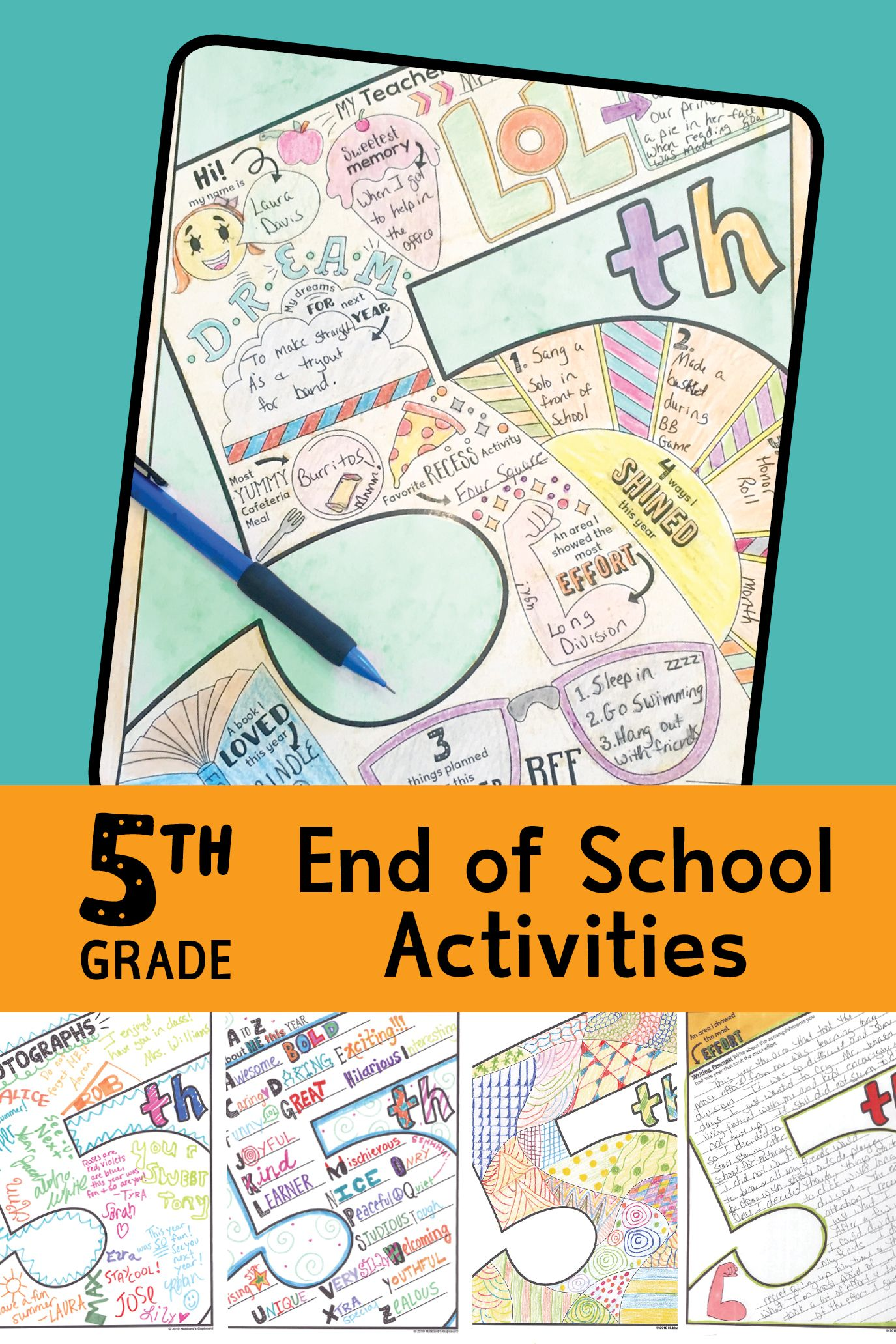 5th Grade End Of Year Memory Book